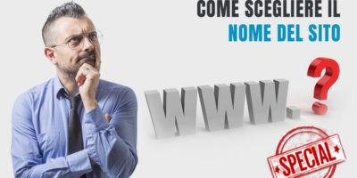 Come scegliere il nome del sito